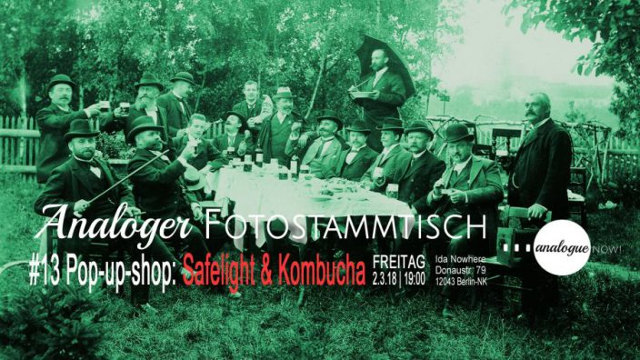 Analoger Fotostammtisch #13: Pop-up-Store: Safelight & Kombucha