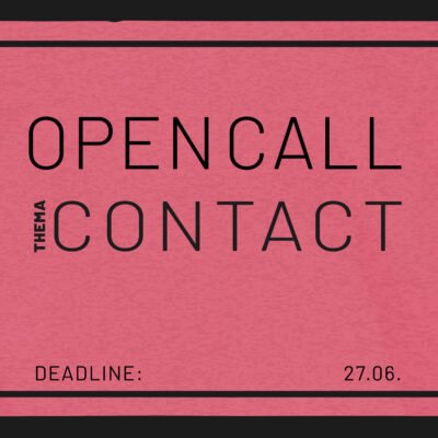 Open Call, Theme Contact, analogue NOW! Photo Weekend